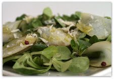 Arugula Salad with Pears and Xango Dressing