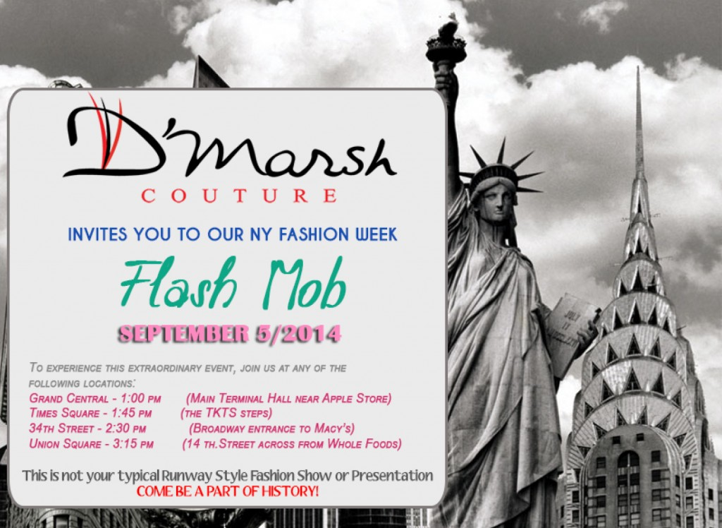 Fashion Flash Mob in NYC on Friday September 5th!