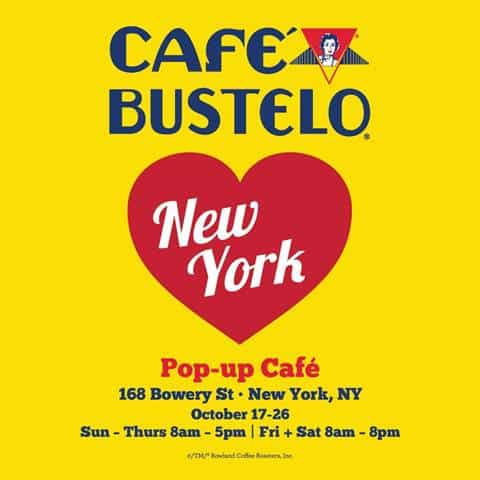It is all about Coffee... Cafe Bustelo Pop-Up Experience is now in NYC!