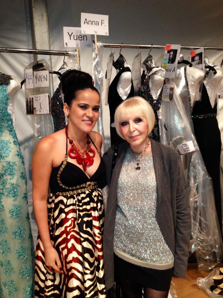 Backstage with Venexiana at New York Fashion Week - Spring 2015