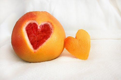 grapefruit heart