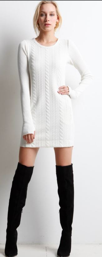 Ivory cable dress