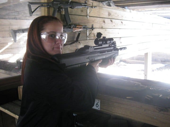 Shooting a gun - shooting range - Pennsylvania