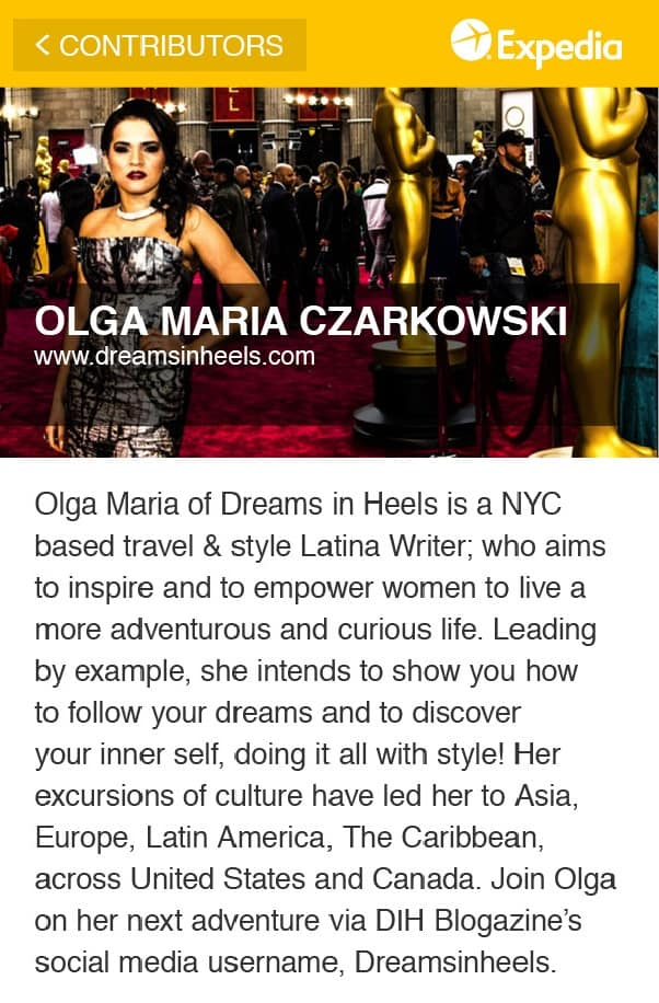 Expedia - NYC Pocket Travel Guide Interactive Olga Maria Czarkowski, Dreams in Heels Blogazine