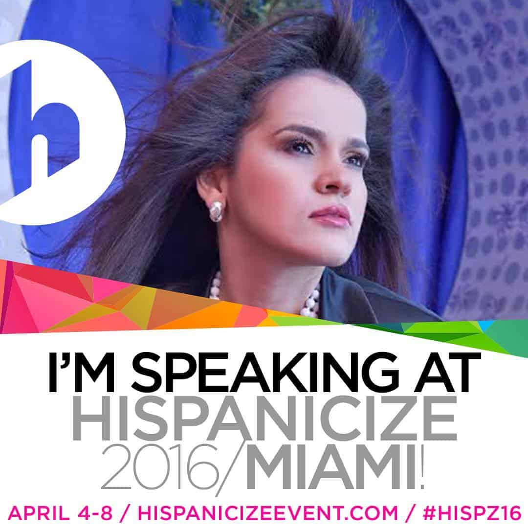 Olga Maria Dreams in Heels speaking at hispanicize 2016