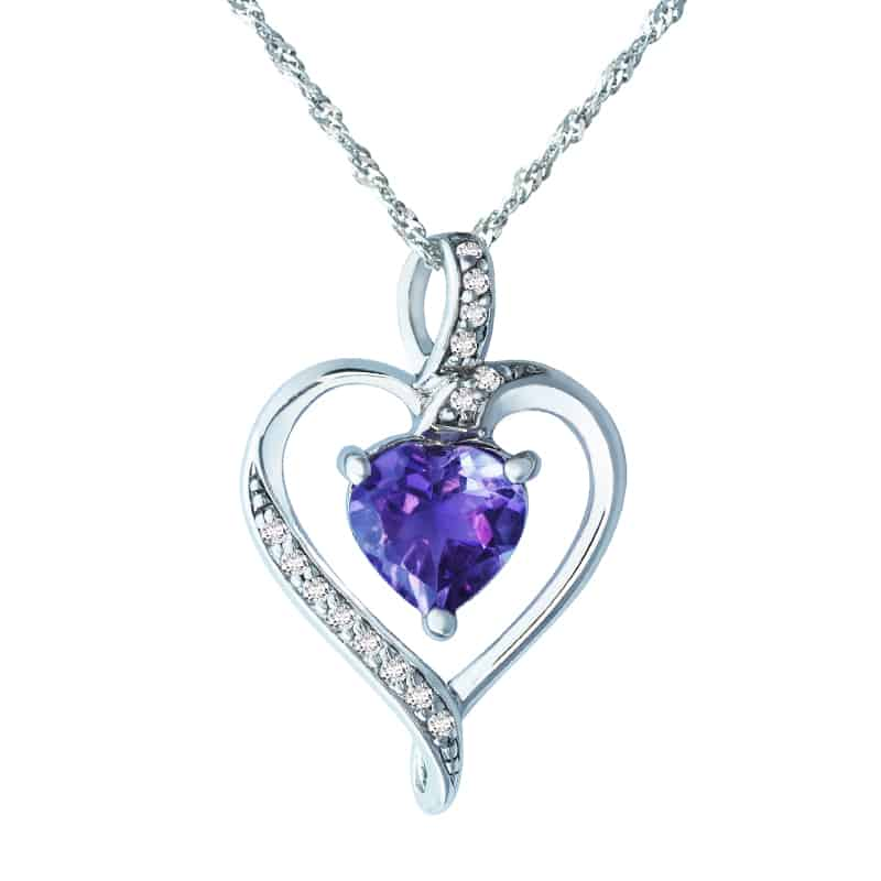Valentine's Day heart pendant
