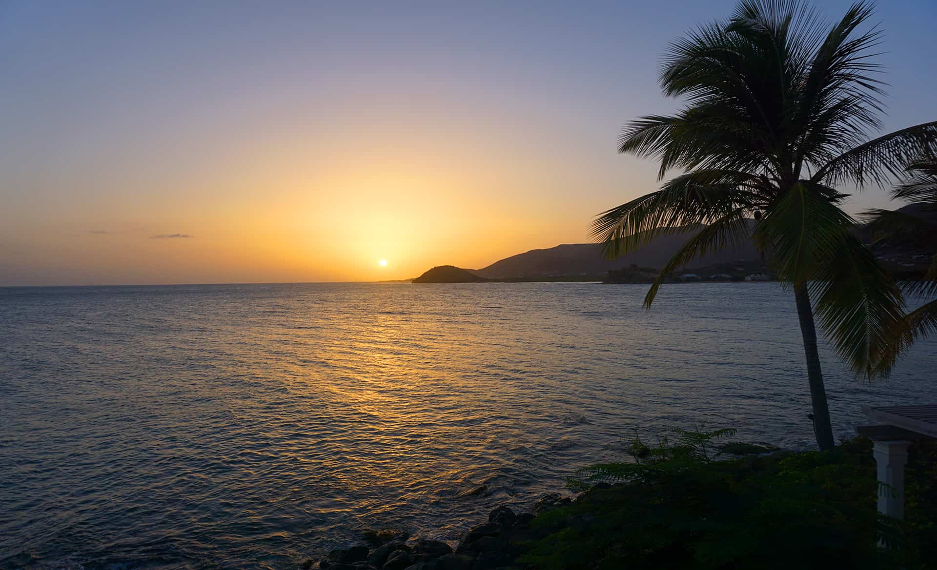 Sunset at Antigua and Barbuda
