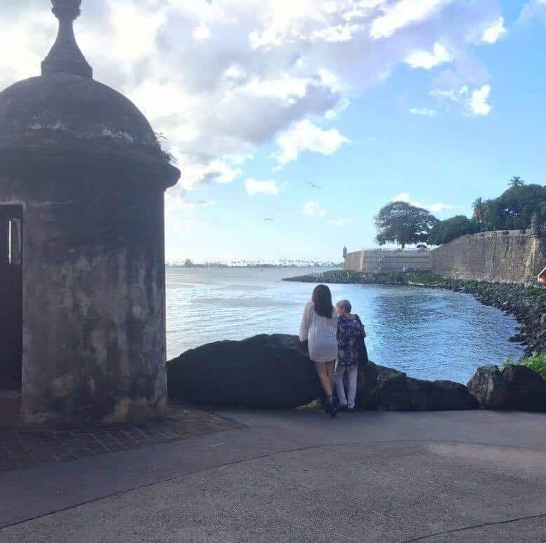 My mom and I in Old San Juan Puerto Rico