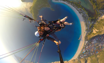 Go Pro Shot - Paragliding in Fethiye Turkey - Dreams in Heels