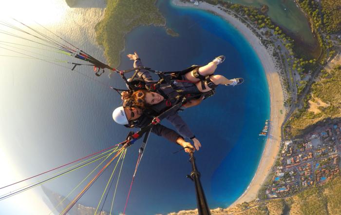 Go Pro Shot - Paragliding in Fethiye Turkey - Dreams in Heels