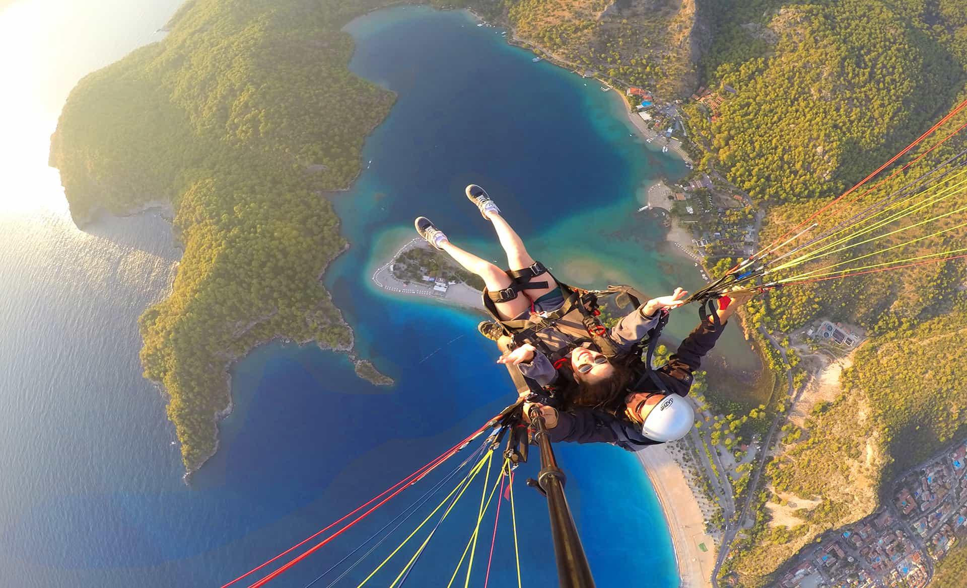 Olga Maria Dreams in Heels - Go Pro Shot - Paragliding in Turkey