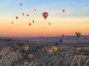 Hot air balloon in Cappadocia Turkey - One of the best hot air balloon rides in the world!