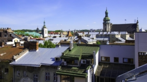 Lviv Chocolate Factory rooftop view