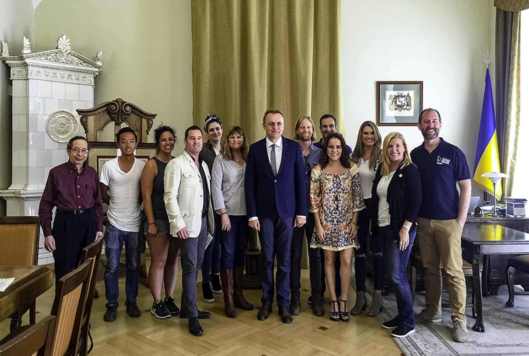 Lviv Mayor Visit Dreamsinheels