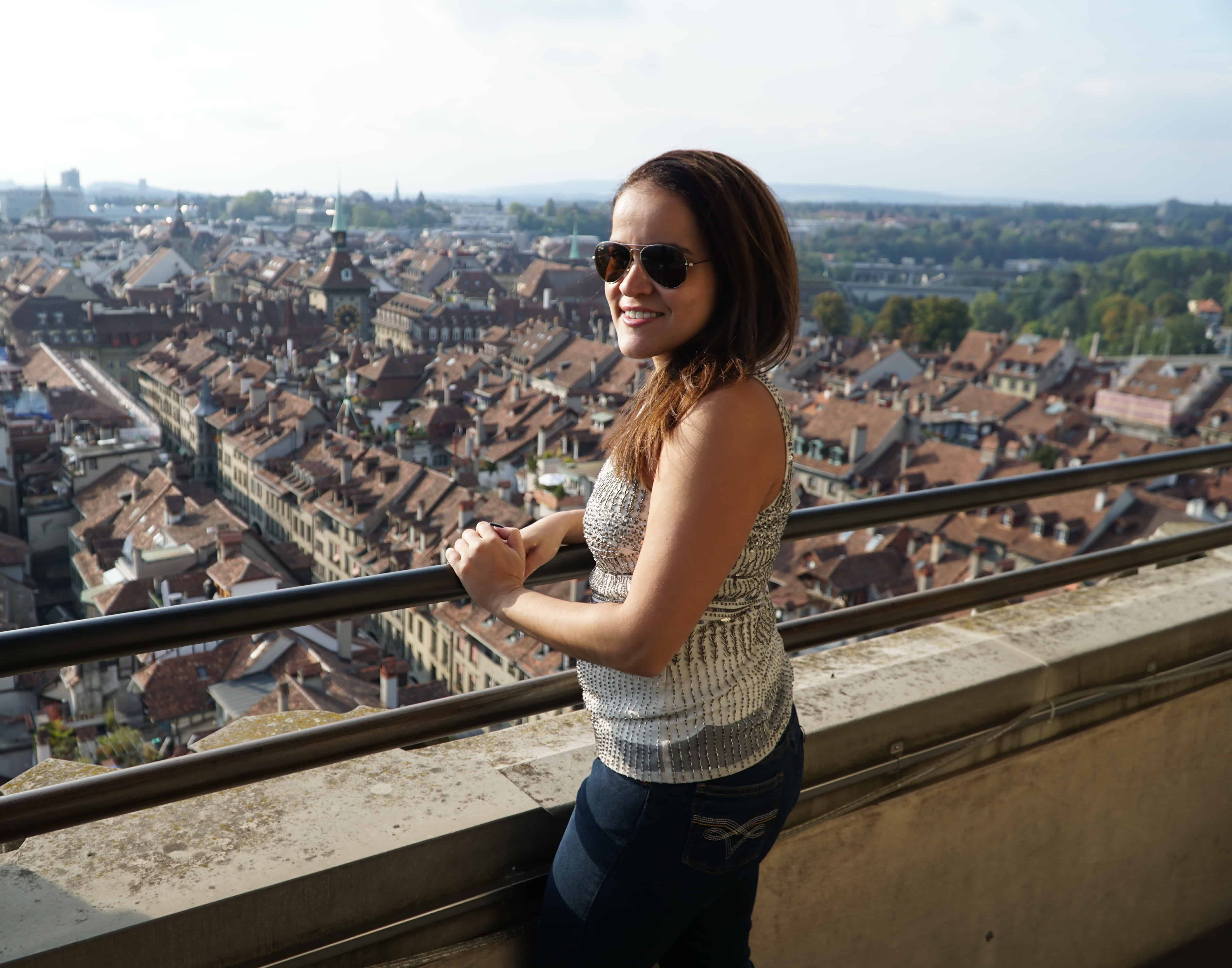 Me at the top of the Munster Cathedral in Bern Switzerland