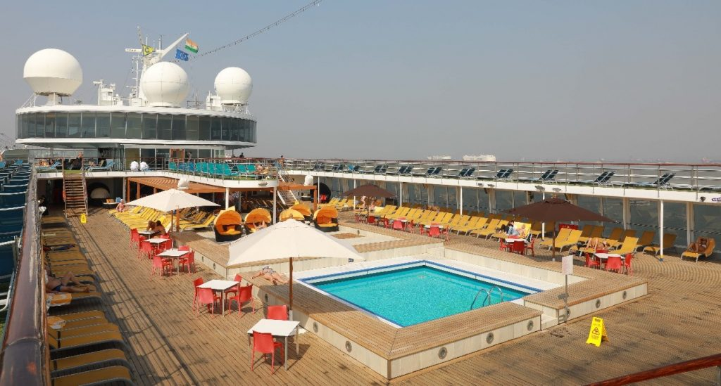 Aboard Costa Cruise in Mumbai India