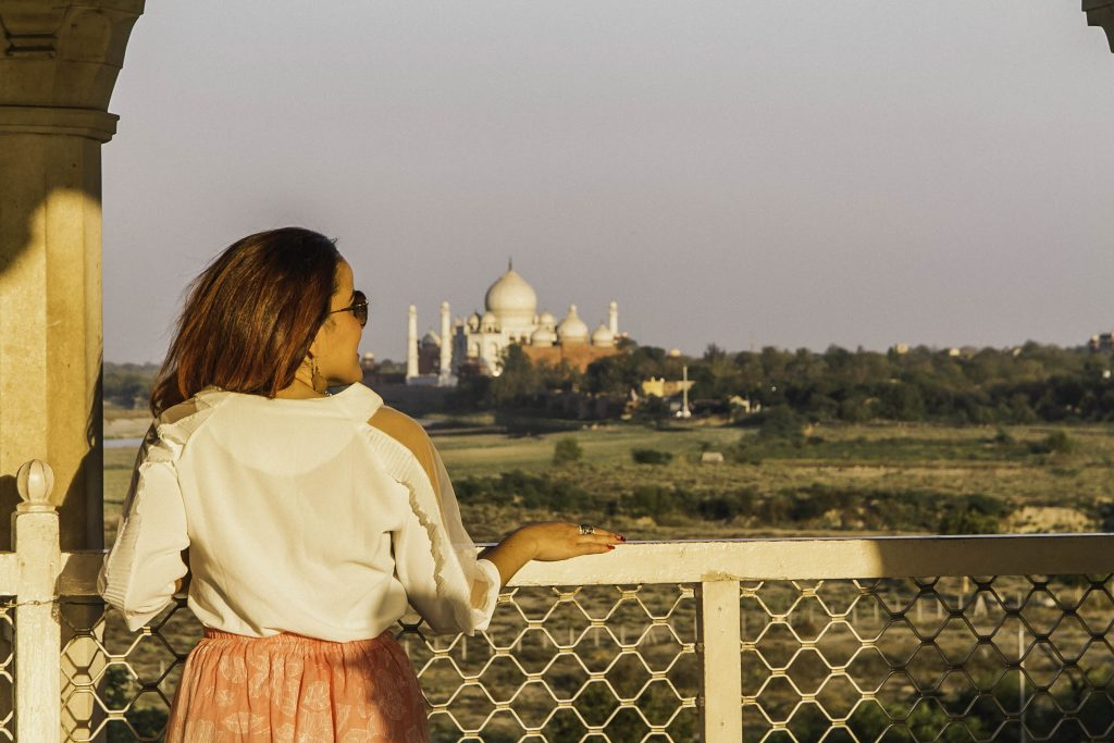 View of The Taj Mahal from Agra Fort - visiting the taj mahal tips