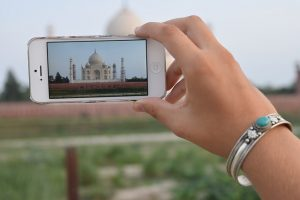 selfies inside the Taj Mahal
