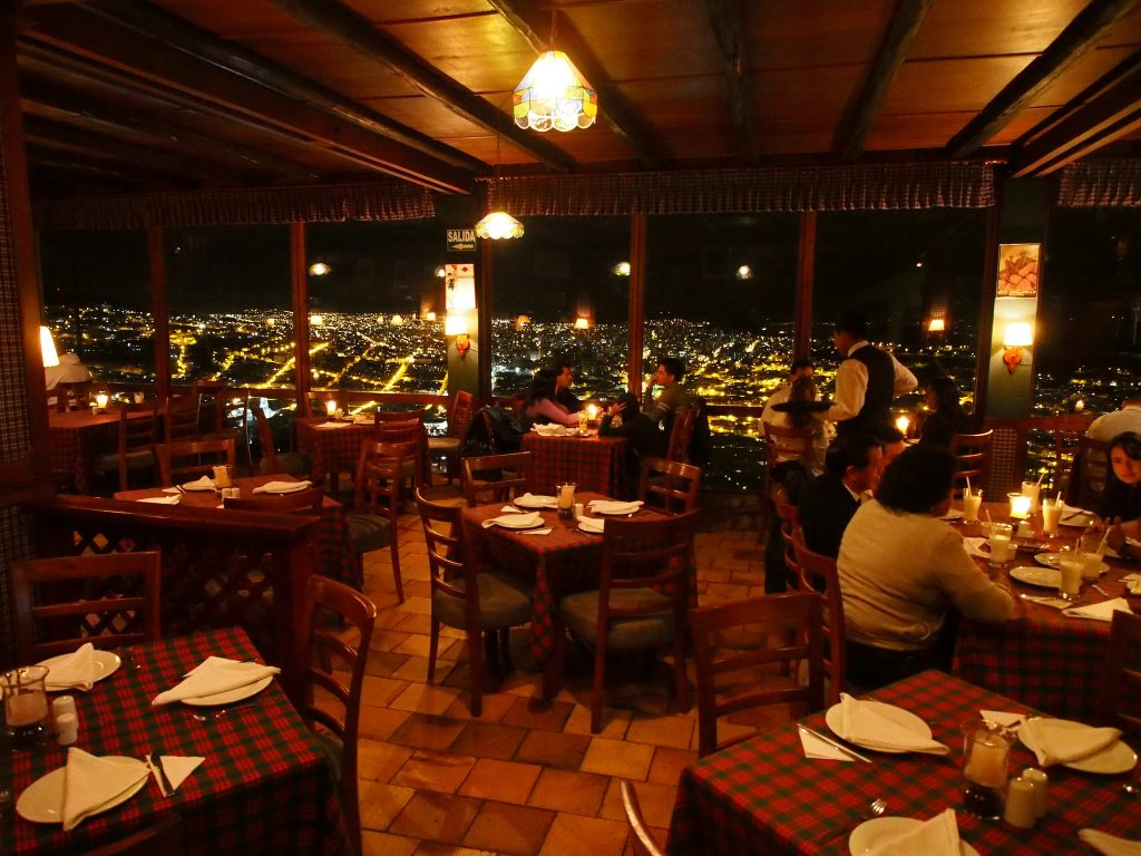 panecillo view restaurant quito ecuador