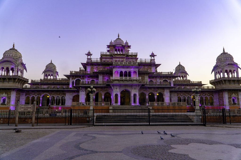 Albert Hall Museum nighttime light show jaipur in one day