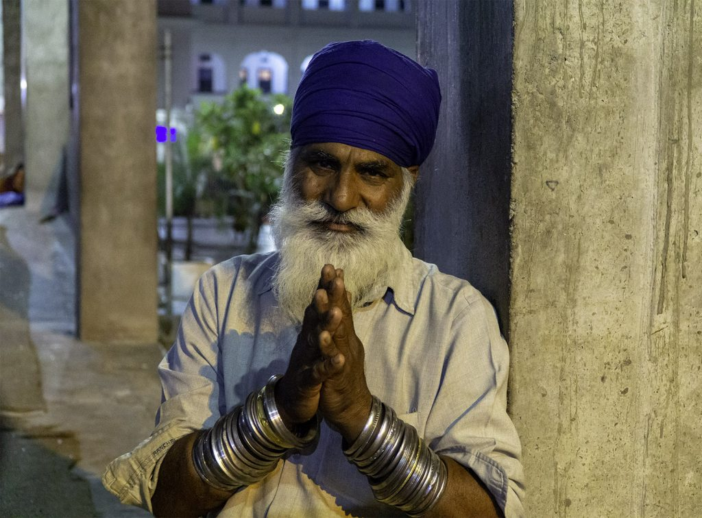 a very special sikh man at the Golden Temple in Amritsar