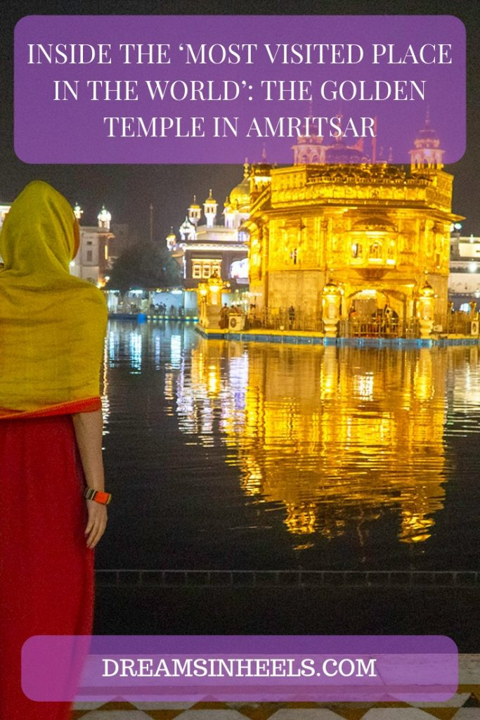 Inside the 'most visited place in the world': The Golden Temple in Amritsar. This temple has the largest community kitchen in the world feeding over 100,000 people daily!