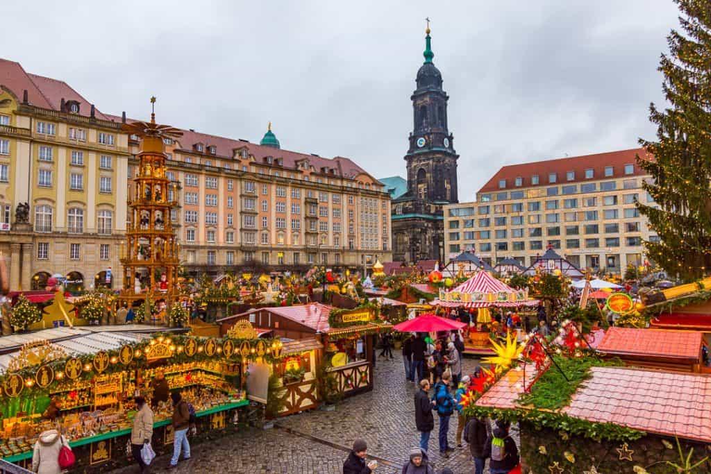 Dresden Christmas Striezelmarkt-Germany Winter