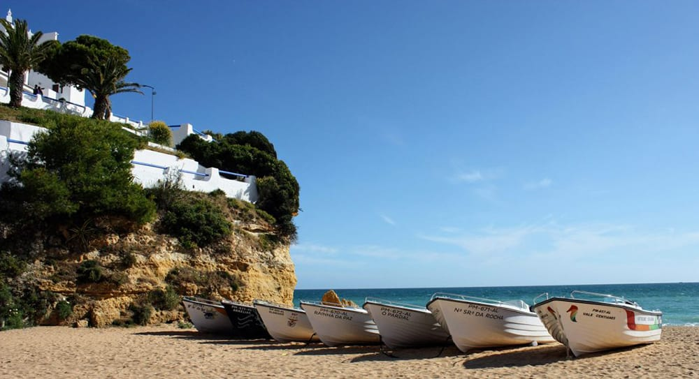 carvoreiro beach algarve portugal