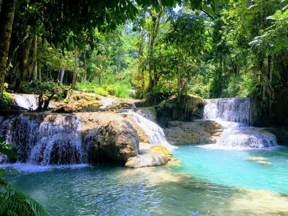 Kuang Si Falls Luang Prabang Laos Asia