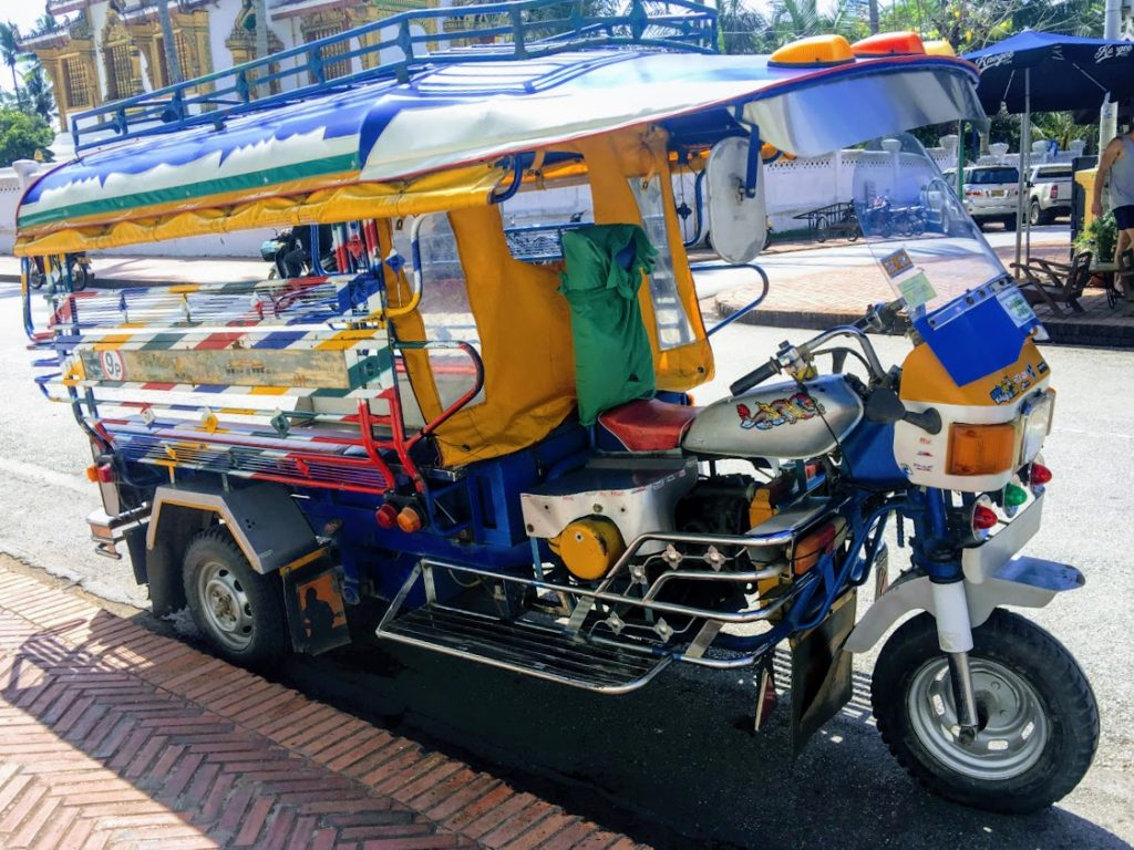 Colorful Tuk Tuk in Luang Prabang Laos Asia