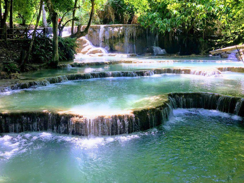 Famous Kuang Si Falls in Luang Prabang Laos Southeast Asia