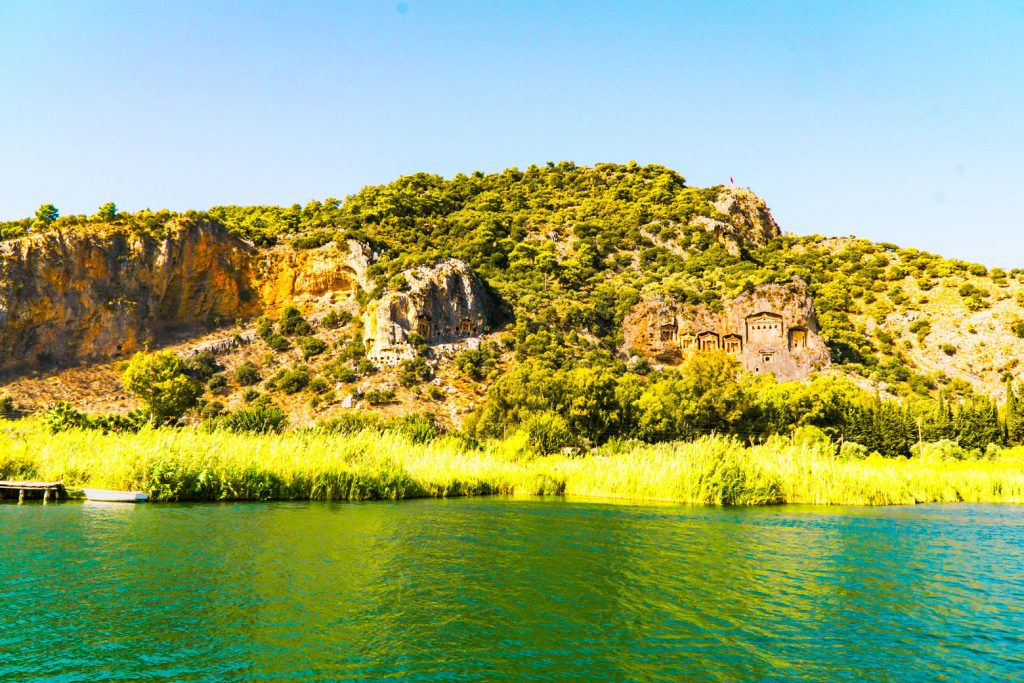 Boat Trips in Oludeniz Turkey + Dalyan Tombs and Dalyan Mud Baths excursion!