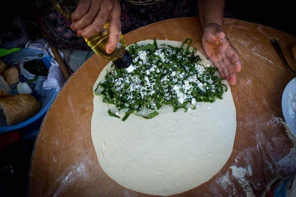 Gozleme Turkish dishes