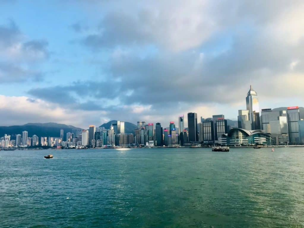 Hong Kong-View to HK Island