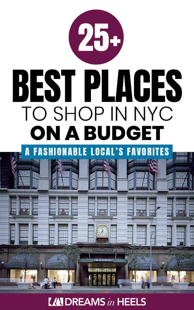 Are you wondering about the best places to shop in NYC on a budget? NYC is a dream for those looking for great shopping deals and finds, not to mention it\'s a #fashion mecca for designers and department stores alike. As a #NewYorker, who started in the fashion industry and transitioned into travel, I often surprise myself at the bargains that can be found even though #NYC is considered a more expensive city to visit. #nycstyle #nycfashion #nycshopping #nycshoppingbudget