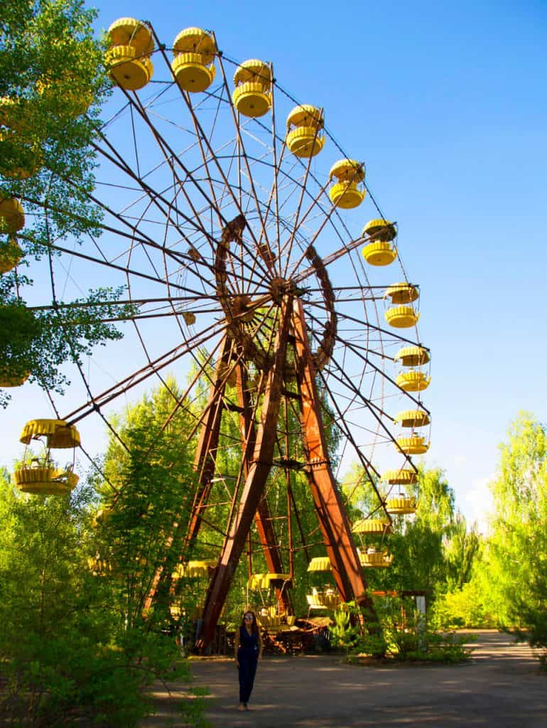 Ferris Wheel Pripyat Amusement Park in the chernobyl exclusion zone