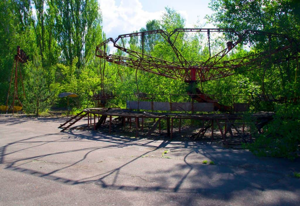 Pripyat Amusement Park in the chernobyl exclusion zone