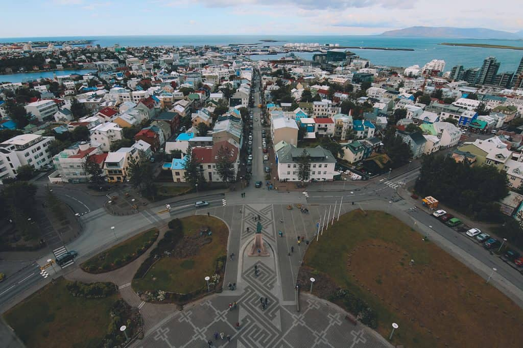 Reykjavik Iceland from above - 3 days in iceland itinerary