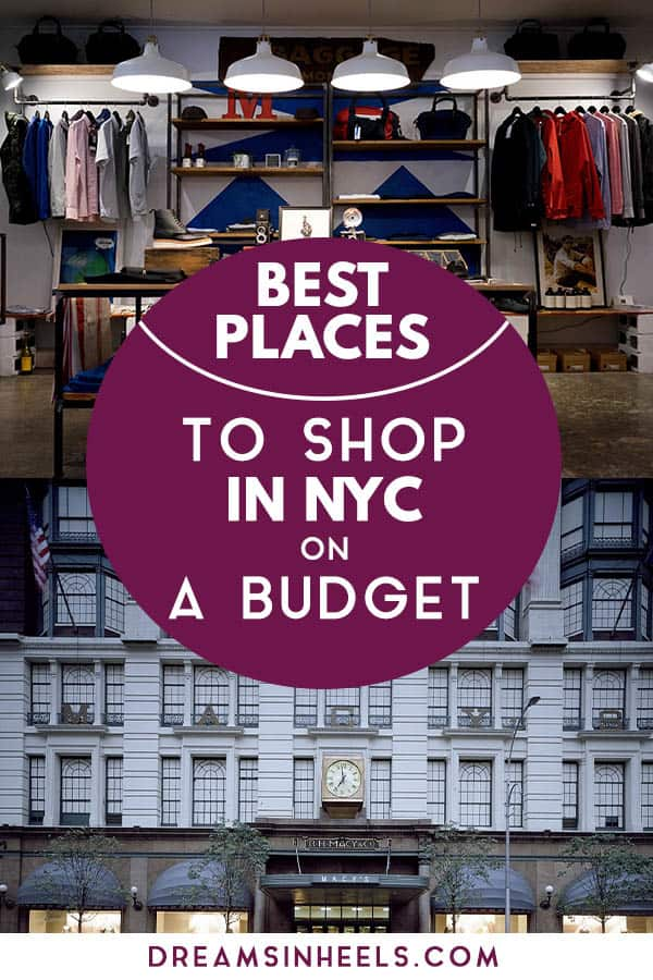 26 Best places to shop in NYC on a budget - A fashionable
