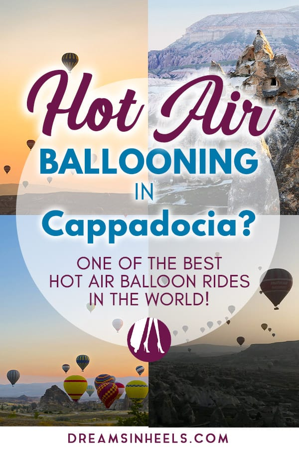 Hot air ballooning in Cappadocia Turkey, one of the best hot air balloon rides in the world! A travel guide with everything you need to know before booking a hot air balloon ride in Cappadocia, Turkey. #Cappadocia #Turkey #Hotairballoons #Hotairballoonride #VisitTurkey