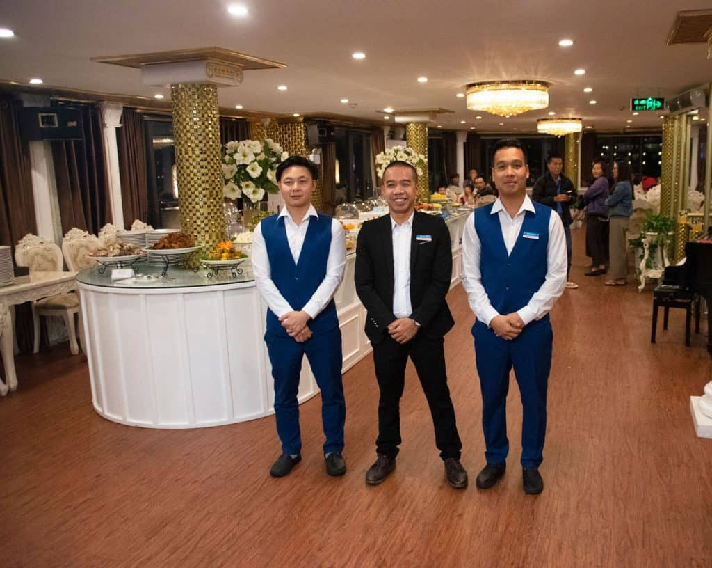 Ancora cruises staff on board - Halong Bay Vietnam