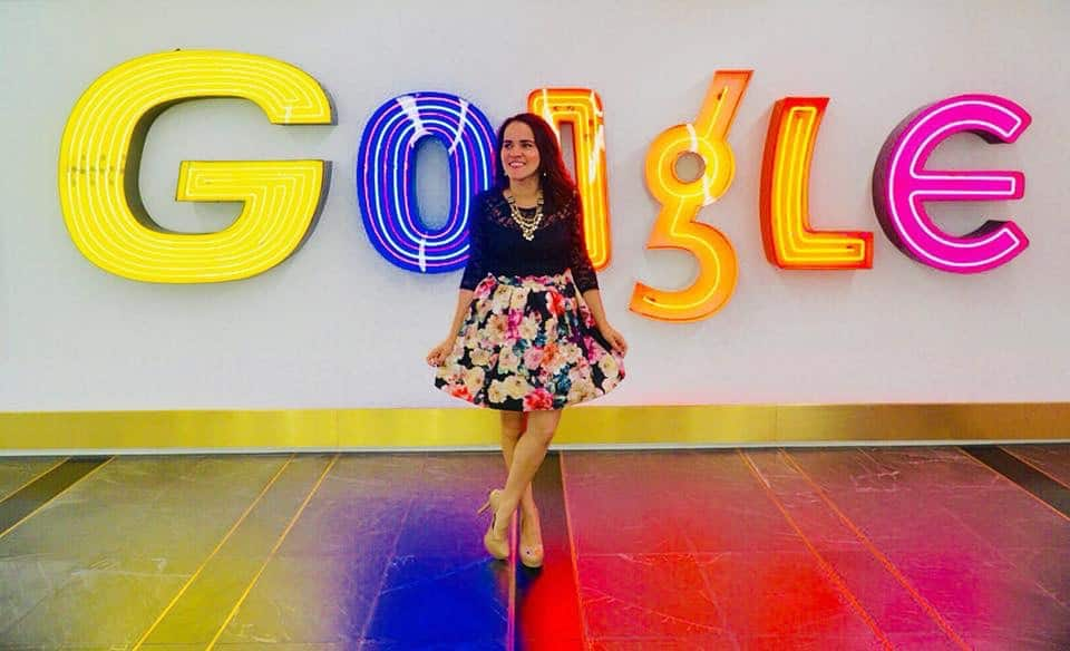 Olga Maria Dreams in Heels speaking at Google NYC