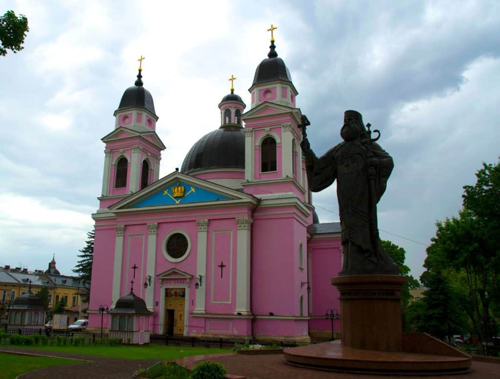 Pink Church In Chernivtsi Ukraine