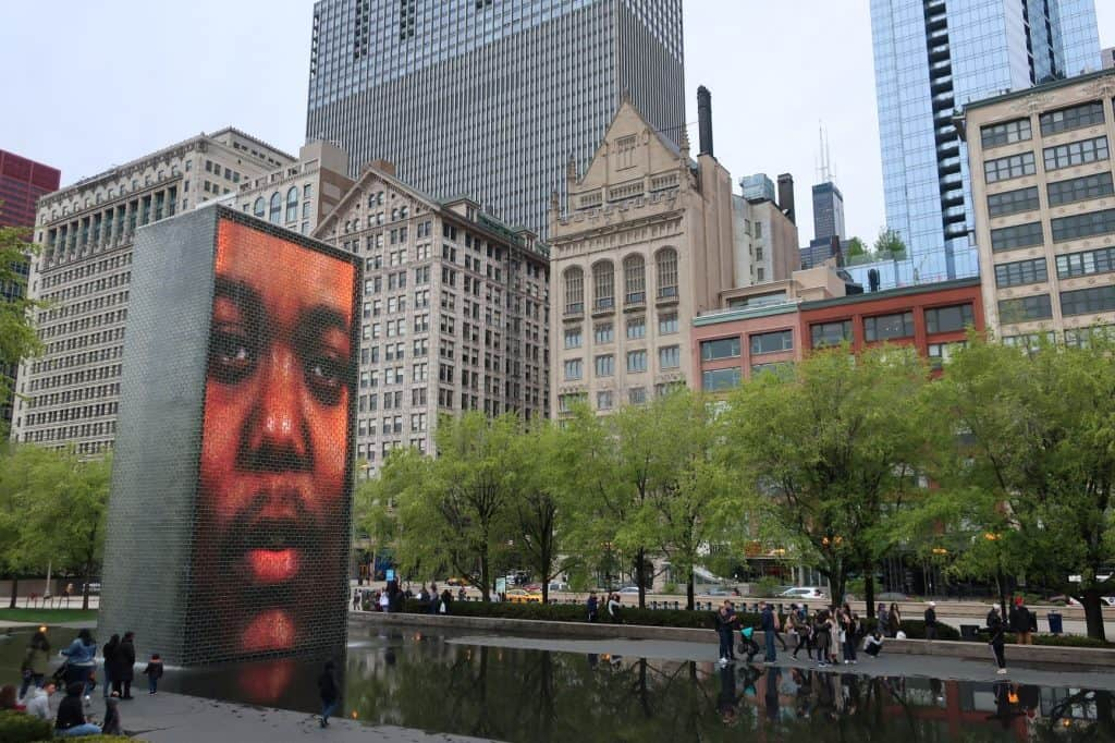 USA-3-day-Chicago-itinerary-Crown Fountain