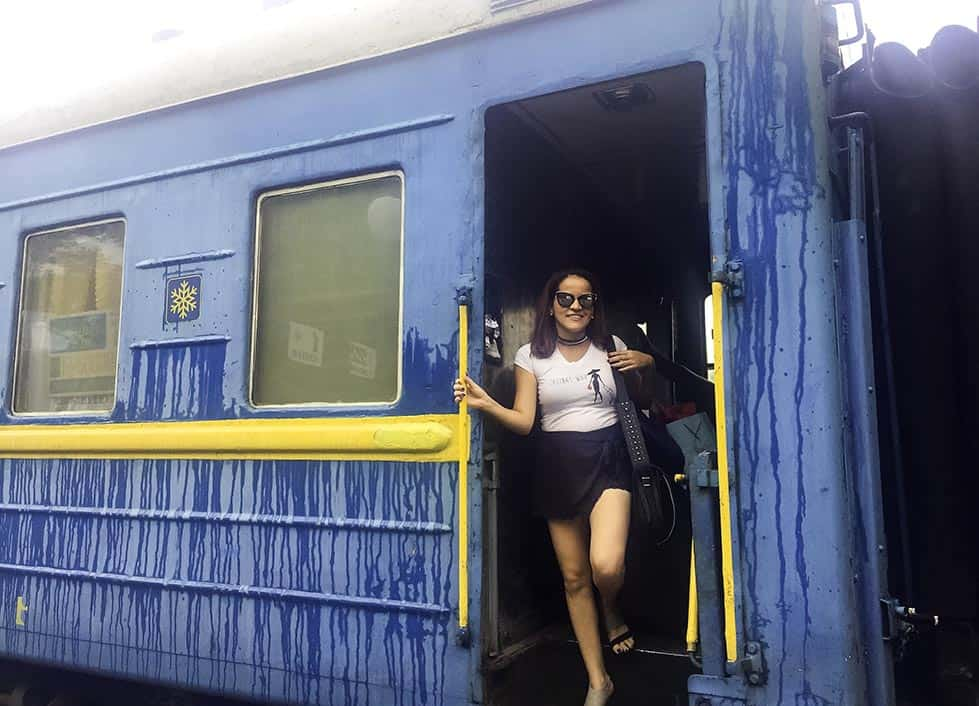 Ukraine Train Travel experience for solo female travelers