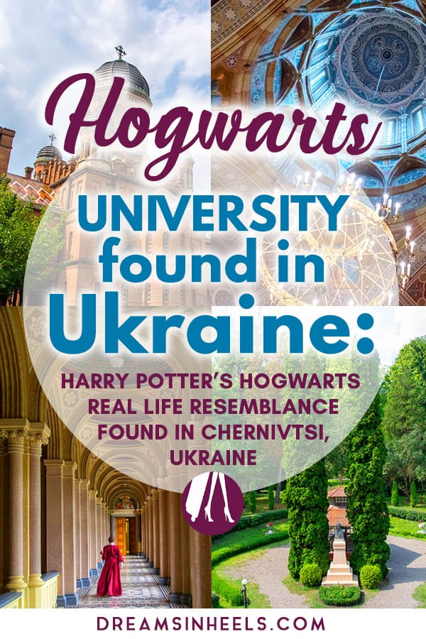 Hogwarts in real life? Can the real Hogwarts location be in Ukraine? From the first moment I landed in Ukraine a few years ago, it was love at first sight - like magic! But getting to visit The #Chernivtsi National University, a school whose architectural resemblance to Harry Potter\'s famous Hogwarts is uncanny (no wonder it\'s aka #Hogwarts University), made it even more magical. #Harrypotter #Ukrainetravel #Ukraine