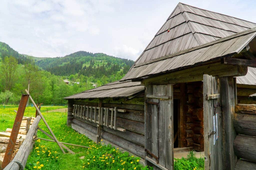 Kryvorivnia Village in the Carpathian Mountains