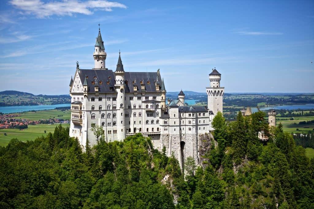 Neuschwanstein fairytale castle in Germany - best castles in Germany
