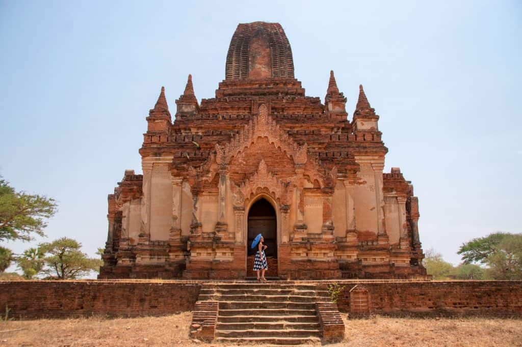 Solo travel in Myanmar - Bagan Myanmar temple - Olga Maria Dreams in Heels