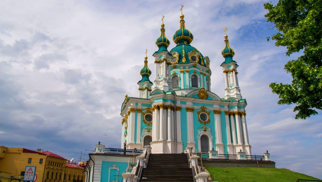 St Andrews Church in Kyiv - Kiev Ukraine